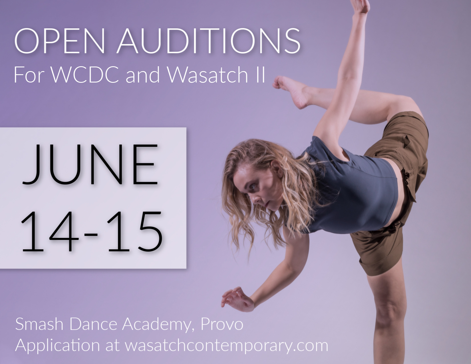 AUDITIONS | Wasatch Contemporary Dance Company
